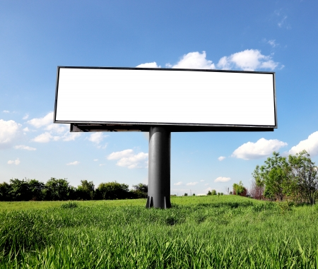 Outdoor cartellone pubblicitario Archivio Fotografico
