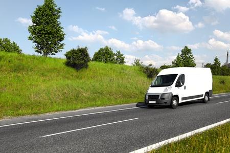 Blanc de camion de livraison mini