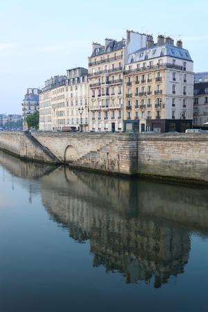 Paris architecture, Seine river photo