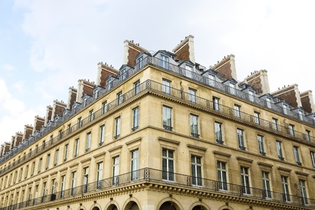 balustrades: Typical French architecture in Paris, France