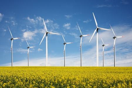 wind turbines: wind turbines farm Stock Photo