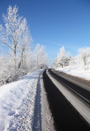 snowstorm: Winter road