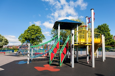 Empty Outdoor Children Playground, uk photo