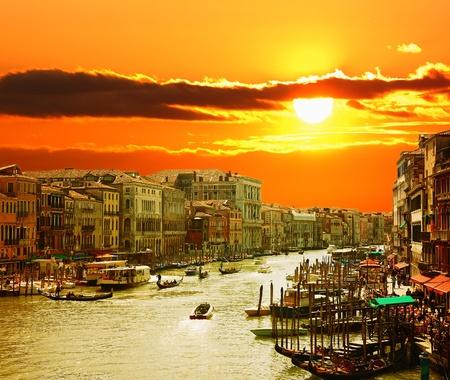 italian sea: Venice at Sunset  Stock Photo