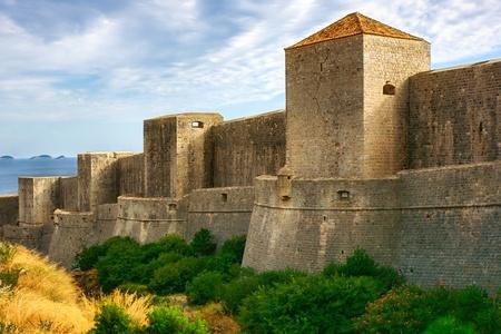croatia dubrovnik: Ancient walls of Dubrovnik, Croatia Stock Photo