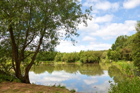 redditch: fishing lake in yorkshire,uk