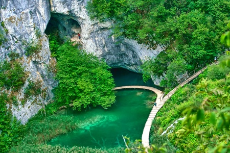 plitvice: Beautiful view in the Plitvice Lakes National Park (Croatia)