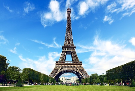 eiffel tower: Paris, The Eiffel Tower Stock Photo