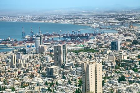 haifa: View of Haifa, Israel Stock Photo