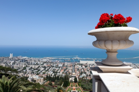 Sea View of Haifa, Israel photo