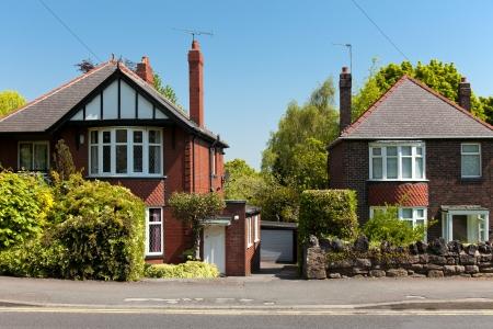rij huizen: Typische engels Huizen
