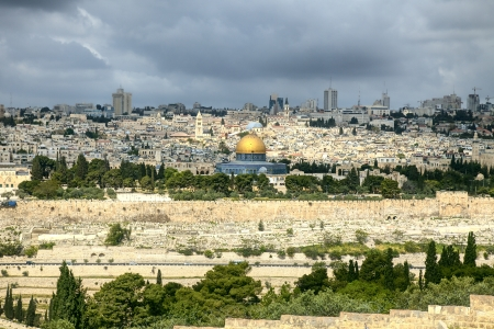 거룩한 도시 예루살렘 스톡 콘텐츠