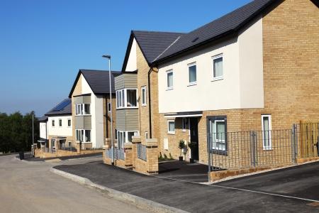 rij huizen: Huizen op een typisch Engels urbanisatie