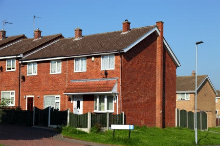 Houses on a Typical English Residential Estate  photo