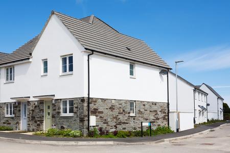 Modern english houses Stock Photo