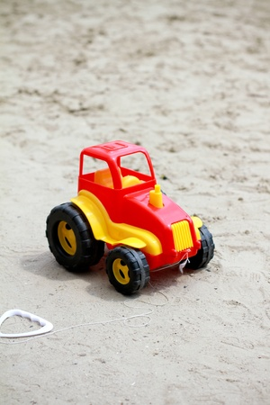 Little red toy car photo