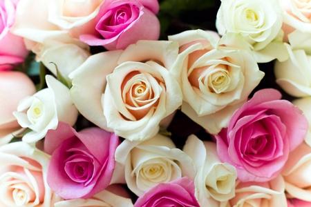 Mooie kleurrijke rozenboeket