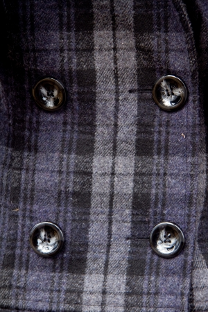 Four buttons on the checkered coat photo