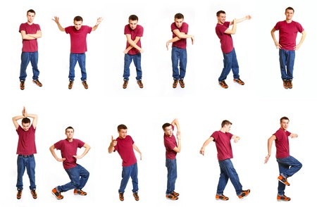 Collage met cool hip hop stijl danser Stockfoto