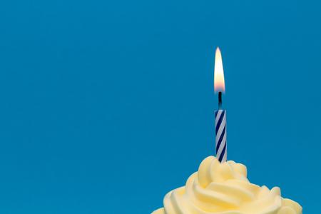 Burning cupcake candle