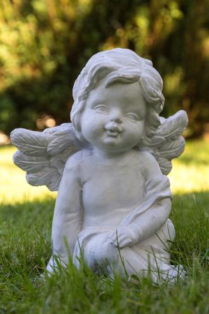 angel figure on the green