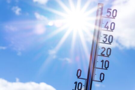 Heat wave in summer