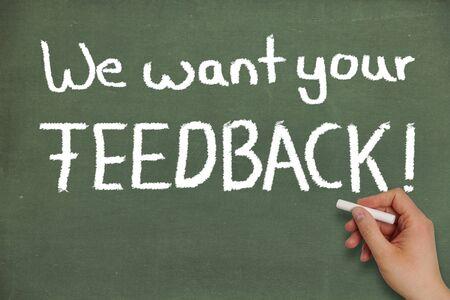 We willen uw feedback