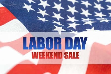 USA flag background Labor Day weekend sale
