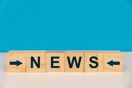News Word Written On Wood Cube Stock Photo