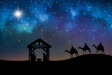 Biblical Scene - Birth Of Jesus In Bethlem
