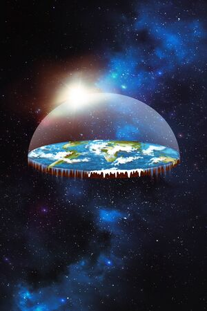 Flat earth in space Stock Photo - 140894797