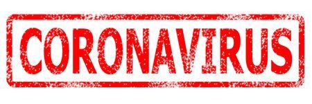 CORONAVIRUS rubber stamp, banner Coronavirus disease 2019 Stock Photo
