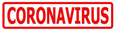 CORONAVIRUS stamp, banner Coronavirus disease 2019