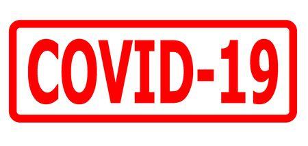 COVID-19 stamp, banner Coronavirus disease 2019