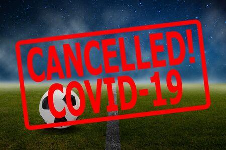 Soccer sport event canceled because of coronavirus outbreak Stock Photo