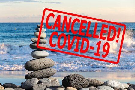 Holiday canceled, CORONAVIRUS concept Stock Photo