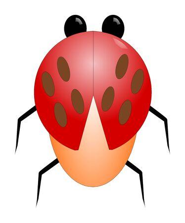 clip art of a ladybug Foto de archivo - 133740412