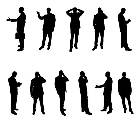 Silhouettes of businesspeople photo