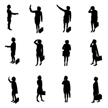 Silhouettes of woman photo