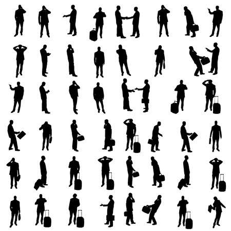 Silhouettes of businesspeople Vector