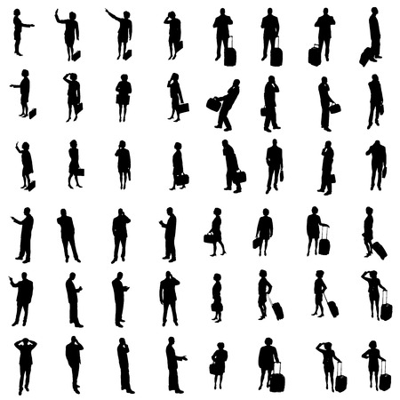 Silhouettes of people Stock Vector - 24555955