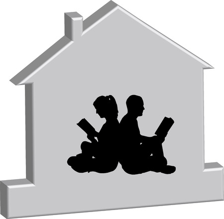 Vector illustration of the silhouette of the house. Vector