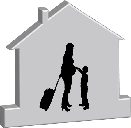 mather: Vector illustration of the silhouette of the house. Illustration