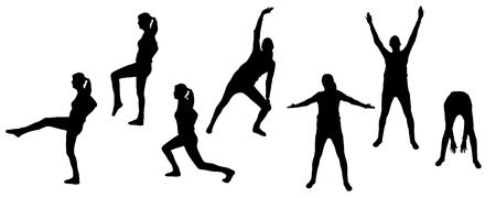 strengthen: Vector silhouettes of sporting activities.