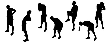 vomit: Vector silhouettes of sporting activities.