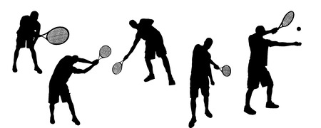 Vector silhouettes of sporting activities. Vector
