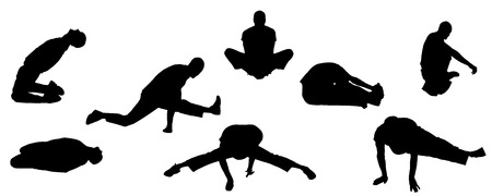 strengthening: Vector silhouettes of sporting activities.