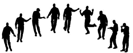 homosexual: Vector silhouette of men who are homosexual.