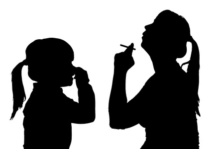 stink: Vector silhouette of people in different situations.