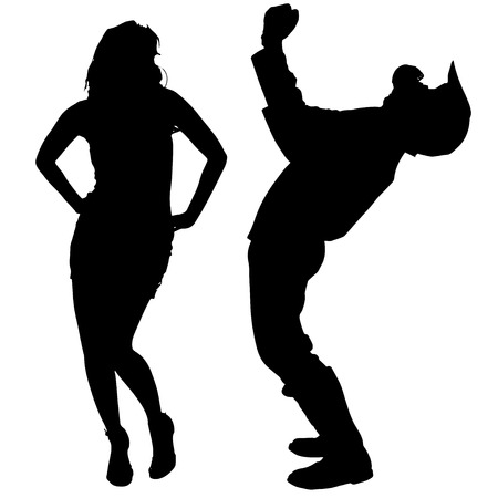 fmx: silhouette of couple on white background.
